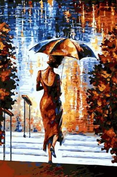 Дівчина під парасолькою худ. Афремов, Леонід  (арт. MR-Q681)