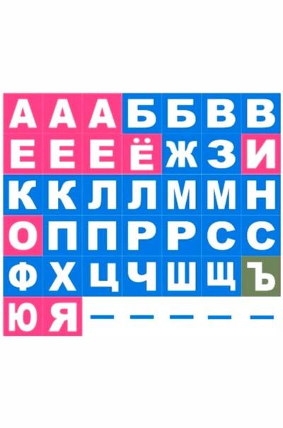 Набір магнітних карток з буквами та цифрами (російська азбука)