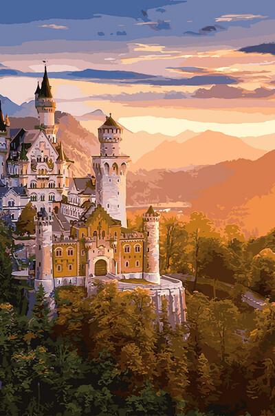 Замок в лучах заката  (арт. VP908)