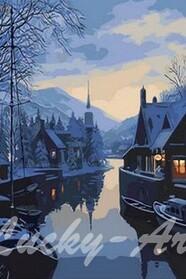 Зима в рыбацкой деревне