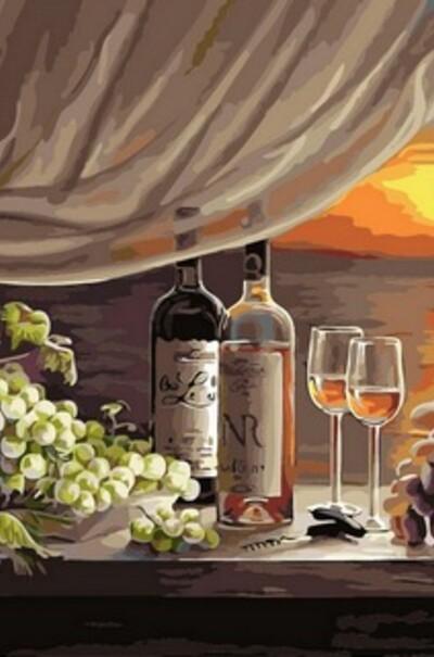 Вино на заході сонця  (арт. VP596)