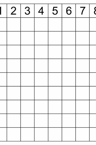 Таблиця множення, 380х400mm  (арт. ТР-Р)