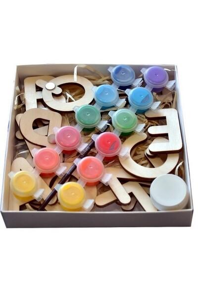 Набор деревянных букв английской азбуки для раскраски