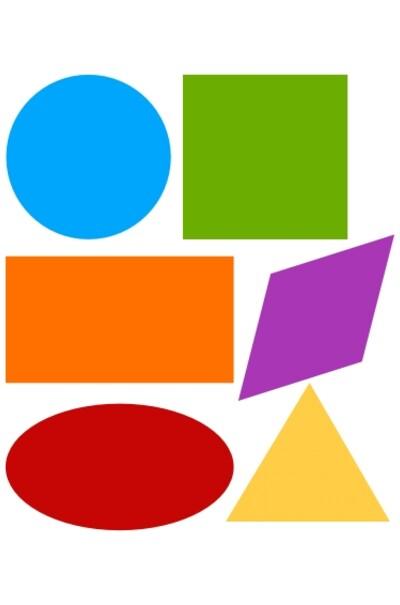 Геометричні фігурки з яскравого вінілу