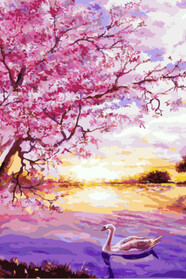 Закат в розовых тонах