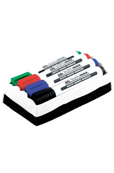 Водные маркеры четырех цветов для работы с белой доской