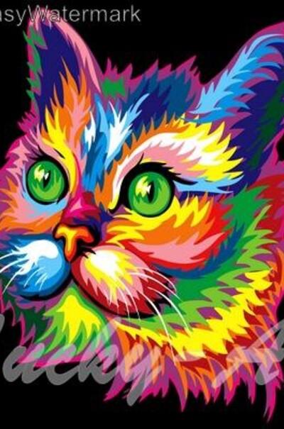 Радужный котик худ. Ваю Ромдони  (арт. VP603)