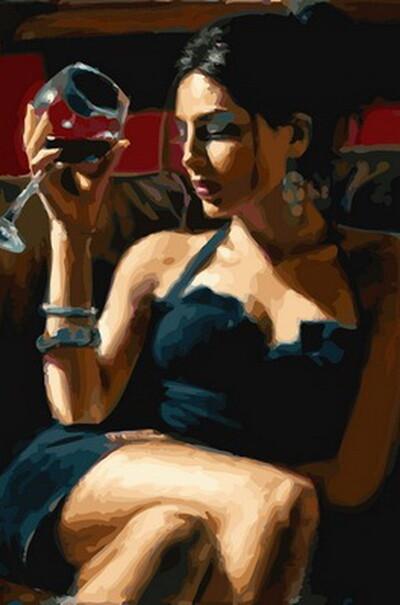 Дівчина з келихом Мерло  (арт. VP892)