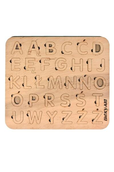 Деревянная доска-сортер с польской  азбукой