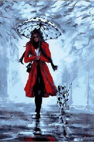 Девушка с далматинцем