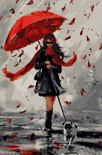 Прогулка в дождливый день  (арт. NB836)