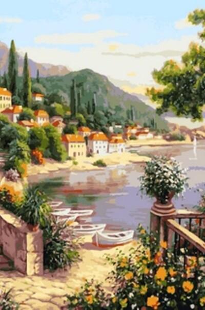 Літня гавань худ. Сатаров Михайло  (арт. VP641)