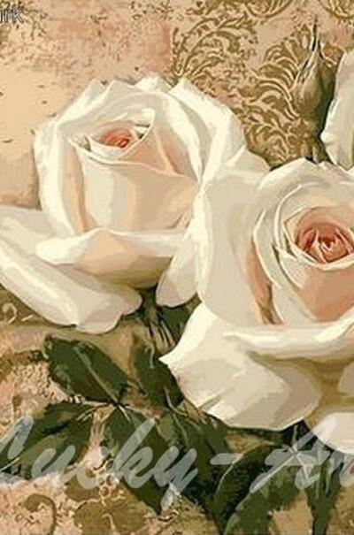 Кремовые розы  (арт. MR-Q416)