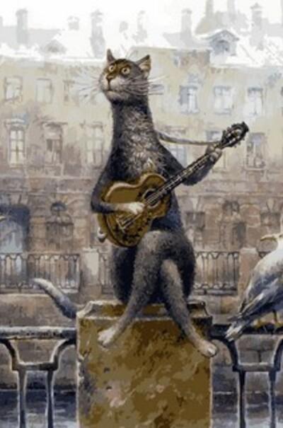 Лирический кот, худ. Владимир Румянцев  (арт. MR-Q2125)