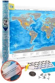 World Silver скретч карта мира (англ.)