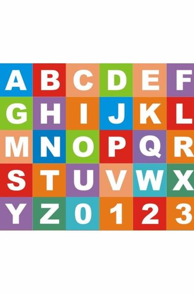 Набор  цифр и английских букв