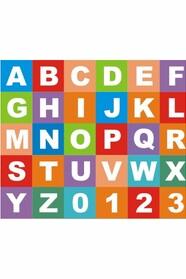 Буквы английские и цифры, 36 шт