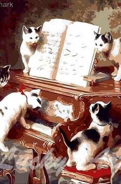 Кошачий концерт худ. Рейнхард Рафаель Карл  (арт. MR-Q235)