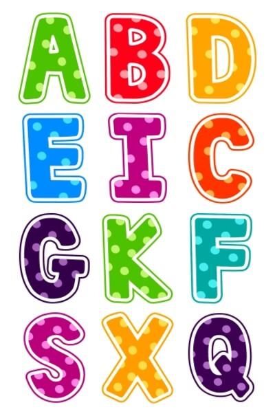 Яскраві англійські букви з полімеру