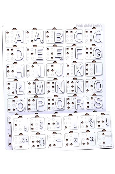 Польский язык шрифтом Брайля