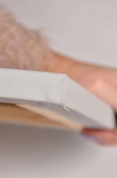 Полотно сіре на підрамнику галерейна натяжка, профіль 60х22  (арт. ВSG-60S)