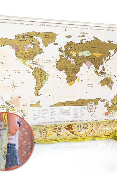 Для отважных туристов и путешественников- карта мира (скретч)