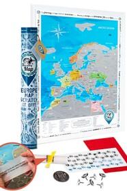 Скретч карта Европы в тубусе
