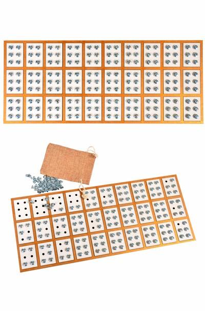 Трирядкова азбука-колодка Брайля